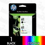 HP 61 Black & Colour Combo Pack CR311AA Genuine Inkjet Cartridge
