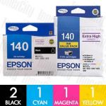 Epson 140 High Yield 5 Pack Genuine Inkjet Cartridge Combo