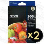 2 x Epson 200XL (C13T201692) High Yield Value Pack Genuine Inkjet Cartridge