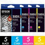 Epson 252XL High Yield 20 Pack Genuine Inkjet Cartridge Combo