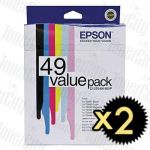 2 x Epson T0491-T0496 (C13T049190VP) Value Pack Genuine Inkjet Cartridge