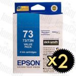 2 x Epson 73N (C13T105192BP) Value Pack Genuine Inkjet Cartridge
