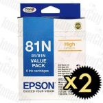 2 x Epson 81N (C13T111792) Value Pack Genuine Inkjet Cartridge