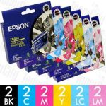 Epson T0491-T0496 12 Pack Genuine Inkjet Cartridge Combo