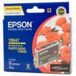Epson T0547 (C13T054790) Red Genuine Inkjet Cartridge
