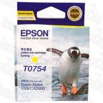 Epson T0754 (C13T075490) Yellow Genuine Inkjet Cartridge