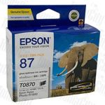 Epson 87 (C13T087090) Gloss Optimizer Genuine Inkjet Cartridge