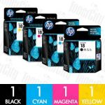 HP 18 (C4936A-C4939A) 4 Pack Genuine Inkjet Cartridge Combo
