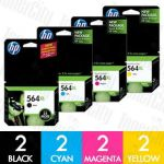 HP 564XL (CN684WA + CB323WA-CB325WA) High Yield 8 Pack Genuine Inkjet Cartridge Combo
