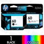 HP 60 (CC640WA) + Colour (CC643WA) 2 Pack Genuine Inkjet Cartridge Combo