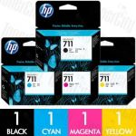 HP 711 (CZ130A-CZ133A) 4 Pack Genuine Inkjet Cartridge Combo
