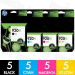 HP 920XL (CD972AA-CD975AA) High Yield 20 Pack Genuine Inkjet Cartridge Combo