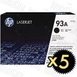 HP CZ192A (93A) Black 5 Pack Genuine Toner Cartridge