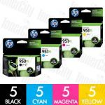 HP 950XL + 951XL (CN045AA-CN048AA) High Yield 20 Pack Genuine Inkjet Cartridge Combo