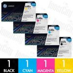 HP 647A + 648A (CE260A-CE263A) 4 Pack Genuine Toner Cartridge Combo