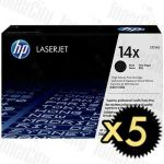 HP 14X (CF214X) Black High Yield 5 Pack Genuine Toner Cartridge