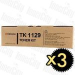 Kyocera TK-1129 3 Pack Genuine Toner Cartridge