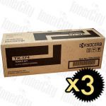 Kyocera TK-174 3 Pack Genuine Toner Cartridge