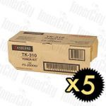 Kyocera TK-310 5 Pack Genuine Toner Cartridge