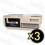 Kyocera TK-364 3 Pack Genuine Toner Cartridge