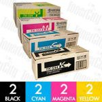 Kyocera TK-544 8 Pack Genuine Toner Cartridge Combo