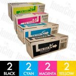 Kyocera TK-554 8 Pack Genuine Toner Cartridge Combo