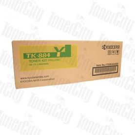 Kyocera TK-884Y Yellow Genuine Toner Cartridge