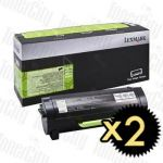 Lexmark 60F3H00 (MX310/MX410/MX511/MX611) High Yield 2 Pack Genuine Toner Cartridge