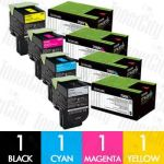 Lexmark 70C80K0-70C80Y0 (CS310/CS410/CS510) 4 Pack Genuine Toner Cartridge Combo