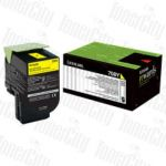 Lexmark 70C80Y0 (CS310/CS410/CS510) Yellow Genuine Toner Cartridge