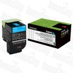 Lexmark 70C8HC0 (CS310/CS410/CS510) Cyan High Yield Genuine Toner Cartridge