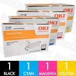 OKI 43870009-43870012 (C5650/C5750) 4 Pack Genuine Drum Unit