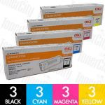 OKI 43865712 + 43872309-311 (C5650/C5750) 12 Pack Genuine Toner Cartridge Combo