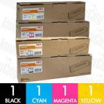 OKI 44059133-44059136 (C810/C810N/C830/C830N) 4 Pack Genuine Toner Cartridge Combo