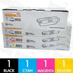 OKI 44973552 + 44469725-727 (MC562/C510DN/C530DN) 4 Pack Genuine Toner Cartridge Combo
