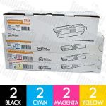 OKI 44973552 + 44469725-727 (MC562/C510DN/C530DN) 8 Pack Genuine Toner Cartridge Combo