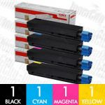 OKI 44844525-44844528 (C831N) 4 Pack Genuine Toner Cartridge Combo