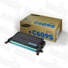 Samsung CLT-C609S Cyan Genuine Toner Cartridge