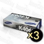 Samsung CLT-K406S Black 3 Pack Genuine Toner Cartridge