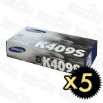 Samsung CLT-K409S Black 5 Pack Genuine Toner Cartridge