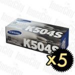 Samsung CLT-K504S Black 5 Pack Genuine Toner Cartridge