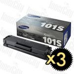 Samsung MLT-D101S Black 3 Pack Genuine Toner Cartridge
