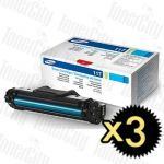 Samsung MLT-D117S Black 3 Pack Genuine Toner Cartridge