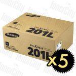 Samsung MLT-D201L Black 5 Pack Genuine Toner Cartridge