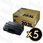Samsung MLT-D203L Black High Yield 5 Pack Genuine Toner Cartridge