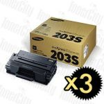 Samsung MLT-D203S Black 3 Pack Genuine Toner Cartridge
