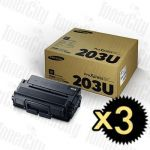 Samsung MLT-D203U Black Ultra High Yield 3 Pack Genuine Toner Cartridge