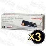 Fuji Xerox CT201303 (DocuPrint C2120) Black 3 Pack Genuine Toner Cartridge