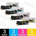 Fuji Xerox CT201632-CT201635 (DocuPrint CM305/CP305) 12 Pack Genuine Toner Cartridge Combo