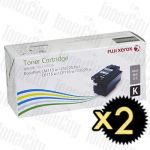 Fuji Xerox CT202264 Black High Yield 2 Pack Genuine Toner Cartridges